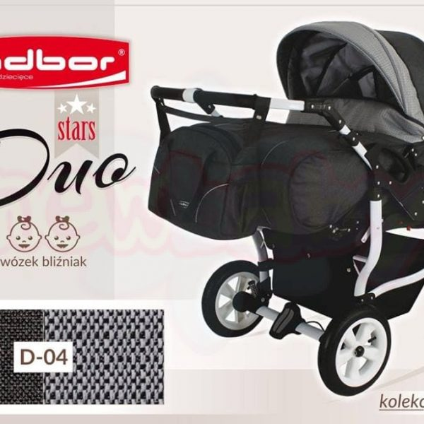 Бебешка количка за близнаци Adbor Duo Stars