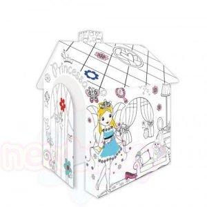 Картонена къща за оцветяване Mochtoys Princess