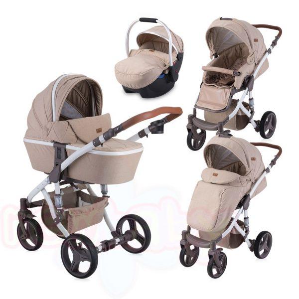 Комбинирана бебешка количка Lorelli RIMINI