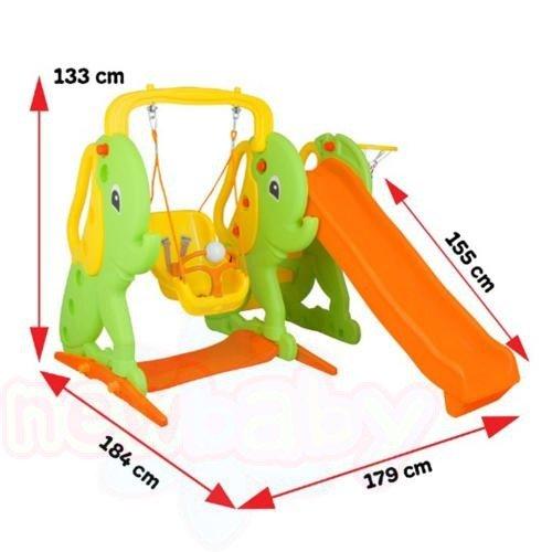 Пързалка с люлка Pilsan Слонче