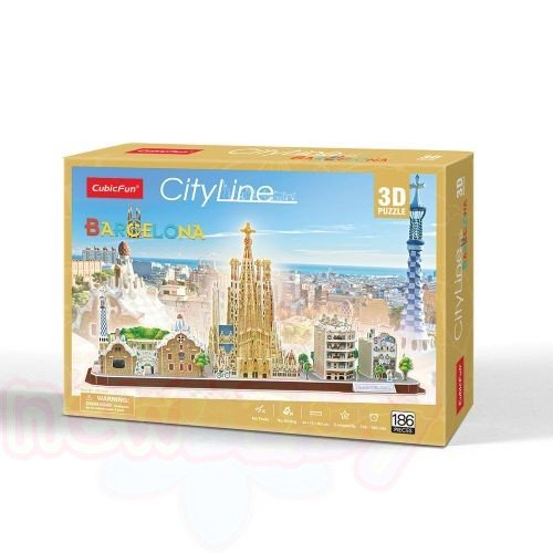 3D Пъзел CubicFun CITY LINE BARCELONA