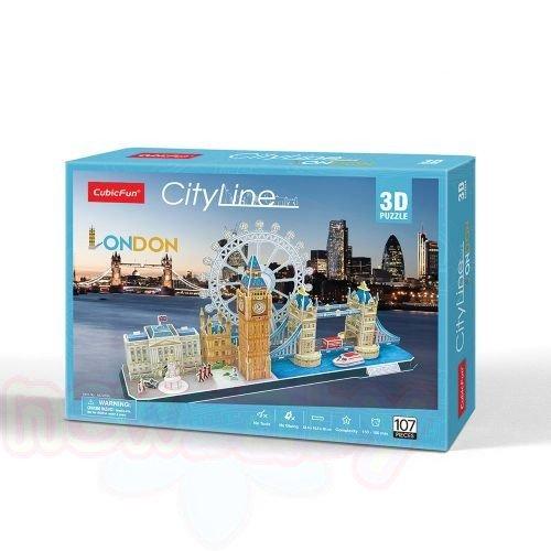 3D Пъзел CubicFun CITY LINE LONDON