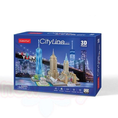 3D Пъзел CubicFun CITY LINE NEW YORK CITY