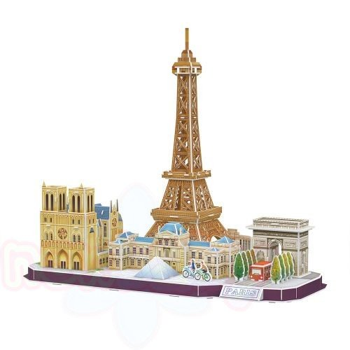 3D Пъзел CubicFun CITY LINE PARIS