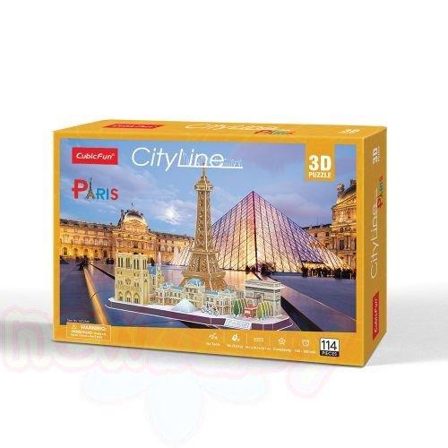 3D Пъзел CubicFun CITY LINE PARIS