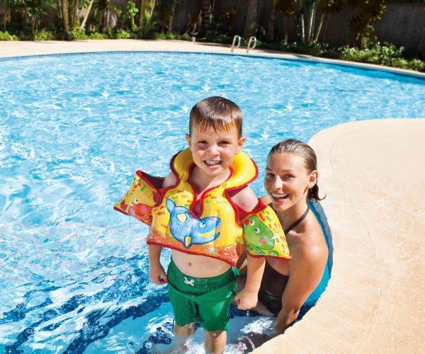 Детска надуваема жилетка с раменки INTEX Aqua Vest