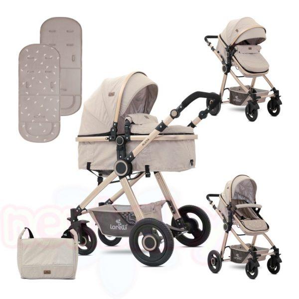 Комбинирана бебешка количка Lorelli ALEXA