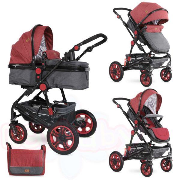 Комбинирана бебешка количка Lorelli Lora