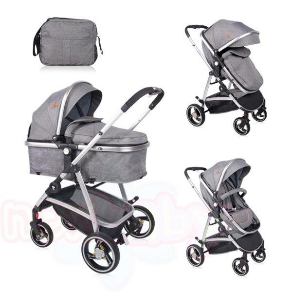Комбинирана бебешка количка Lorelli SOLA