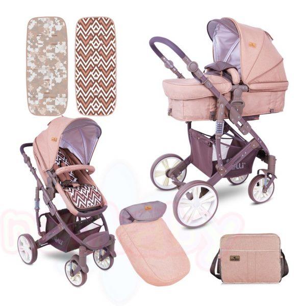 Комбинирана бебешка количка Lorelli VERSO