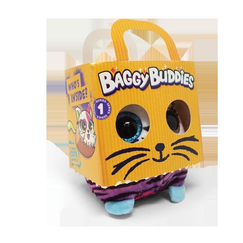 Коте изненада Baggy Buddies, подходящо за деца над 4 годишна възраст. Разбери кой се крие в торбата! Разкрий тази мистерия и си създай нов плюшен приятел - Baggy Buddies!