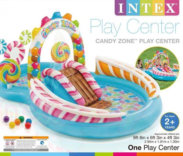 Надуваем остров за игра Candy Zone Intex