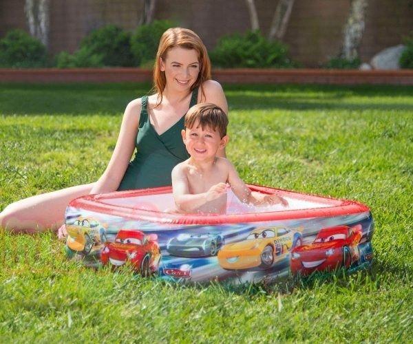 Бебешки надуваем басейн Колите INTEX Cars Play Box