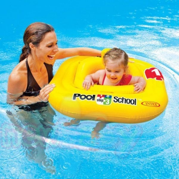 Бебешки надуваем пояс INTEX Deluxe Baby Float Pool School