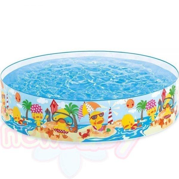 Детски басейн с твърд борд INTEX Duckling Snapset