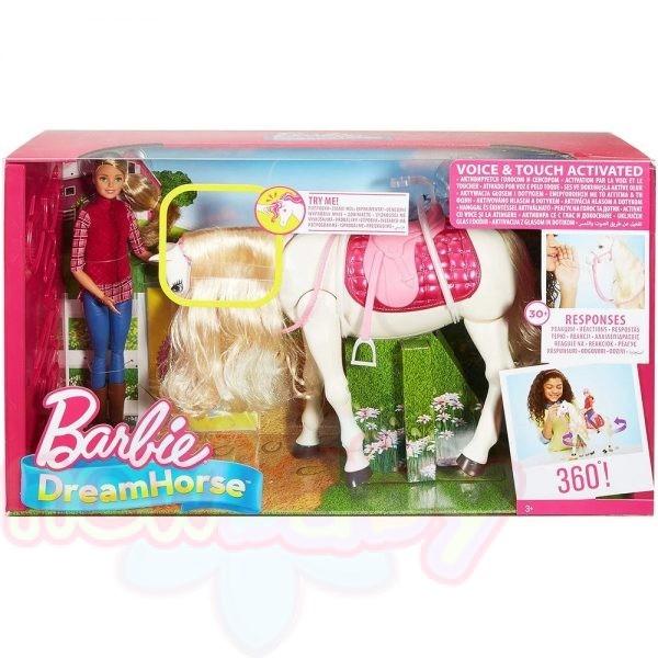 Кукла Barbie - Интерактивен кон с движения и звуци