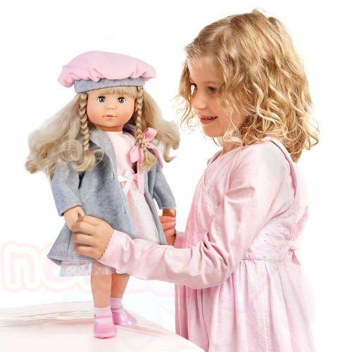 Пееща и говореща кукла със сиво палто МАРИЯ