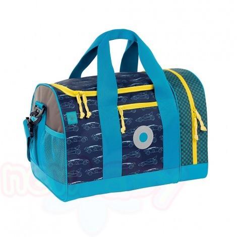 Детска чанта за спорт Lassig Mini Cars blue navy