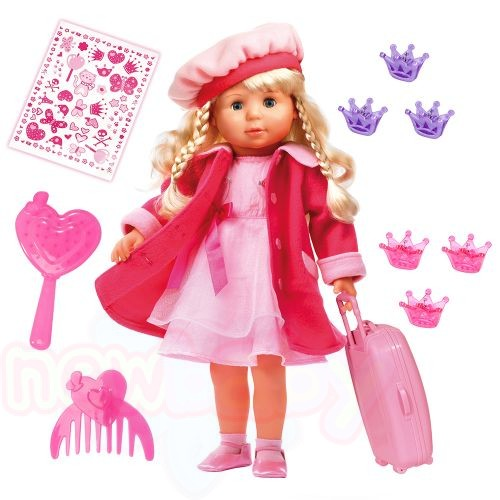 BAYER Пееща и говореща кукла с розово палто МАРИЯ