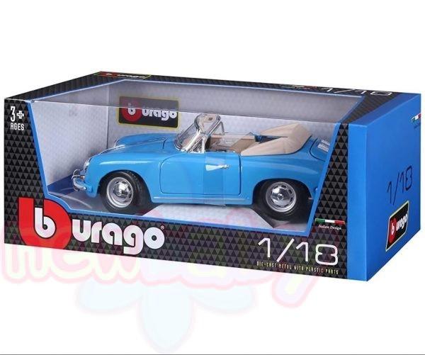 Bburago Plus - Модел на кола Porsche 356B Cabriolet 1/18