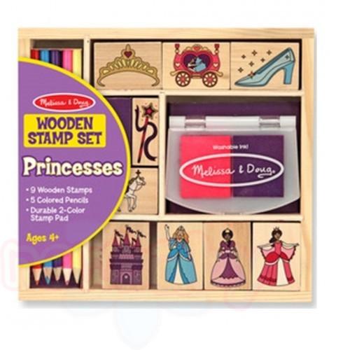 Дървени печати Melissa and Doug Принцеси