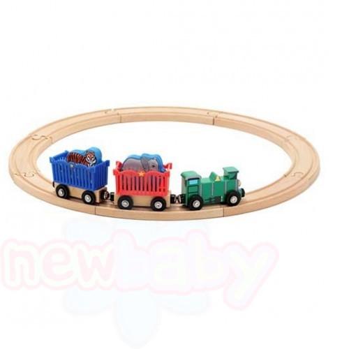 Дървена влакова композиция Melissa and Doug Zoo Animal Train Set