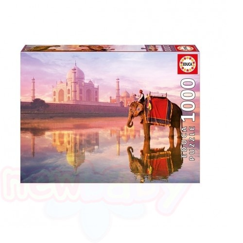 Пъзел EDUCA ELEPHANT AT TAJ MAHAL 1000ч