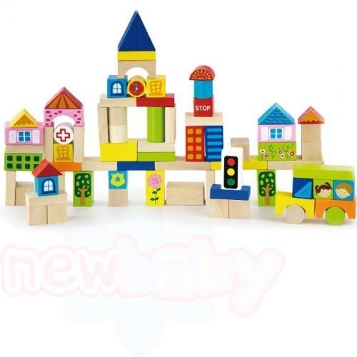 Конструктор City с дървени блокчета 75бр KL07