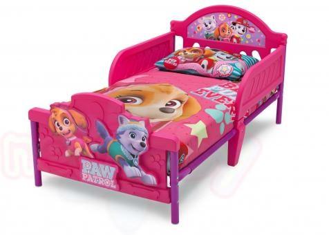 Детско легло Paw patrol pink с 3D изображение на таблата