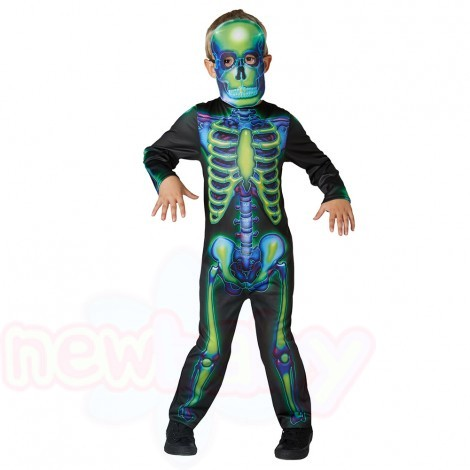 Детски карнавален костюм Rubies Neon Skeleton