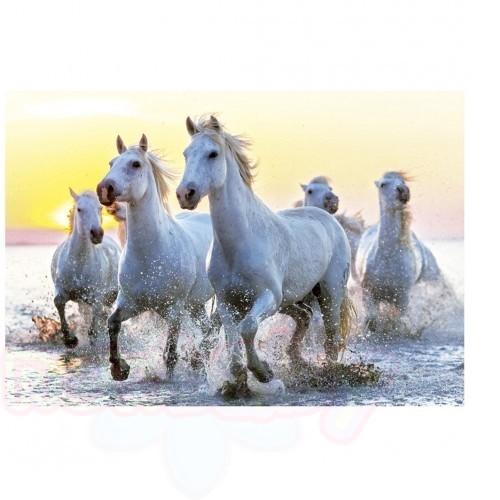 Пъзел EDUCA Бели коне 1000ч
