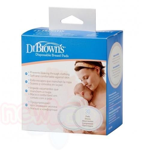 Подплънки за кърмачки Dr.Brown's за еднократна употреба 30 бр.