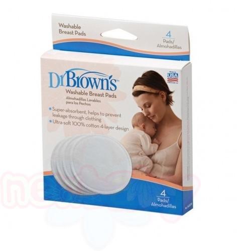 Подплънки за кърмачки Dr.Brown's за многократна употреба 4 бр.