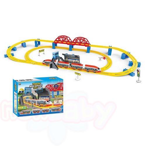HIGH SPEED TRAIN Влак стрела с мост, гара и надлез