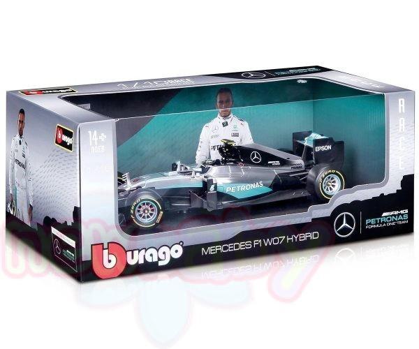 Кола Bburago Race Mercedes F1 W07 HYBRID