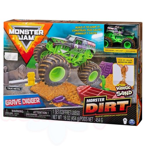 MONSTER JAM Арена с пясък с бъги MONSTER DIRT DELUXE TRUE METAL