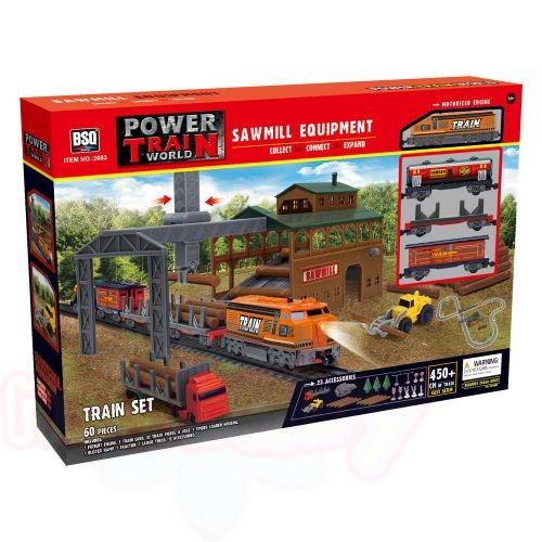POWER TRAIN Товарен влак с дъскорезница
