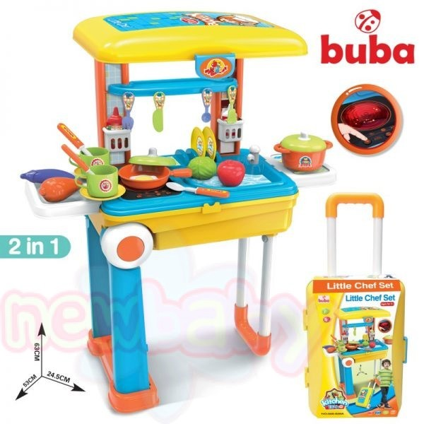 Детска кухня Buba Little Chef Set 008-926A, Жълта/Синя