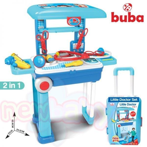 Детски лекарски комплект в куфар Buba Син
