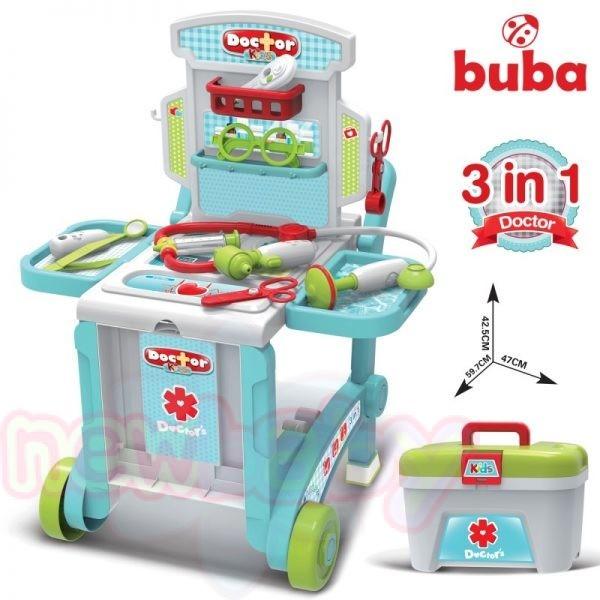 Детски лекарски център на колелца Buba в куфар