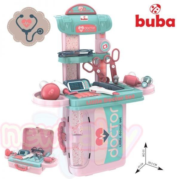 Детски лекарски комплект в кутия Buba Little Doctor Син/Розов