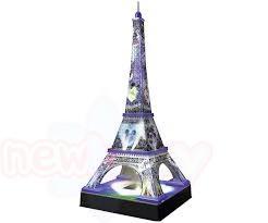 3D Пъзел Ravensburger - Айфеловата кула през нощта